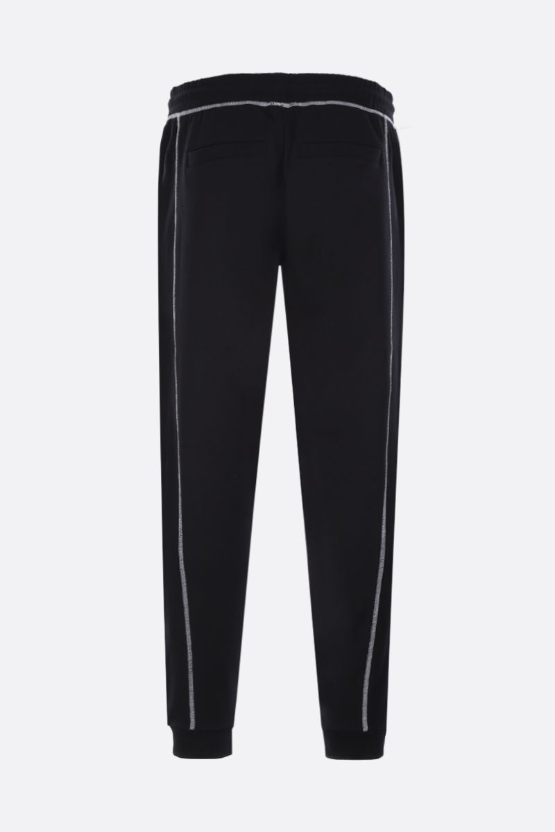 KENZO: Tiger embroidered cotton joggers Color Black_2