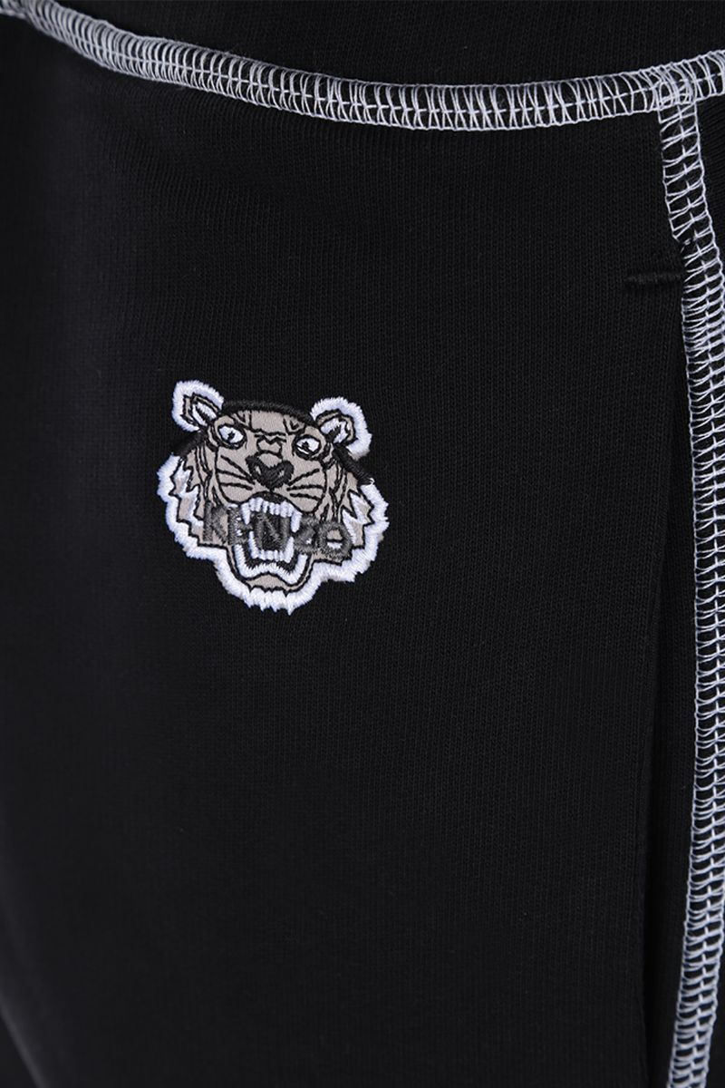 KENZO: Tiger embroidered cotton joggers Color Black_3