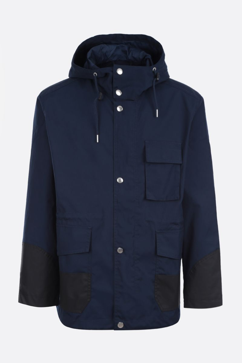 KENZO: Kenzo Paris technical cotton parka Color Blue_1