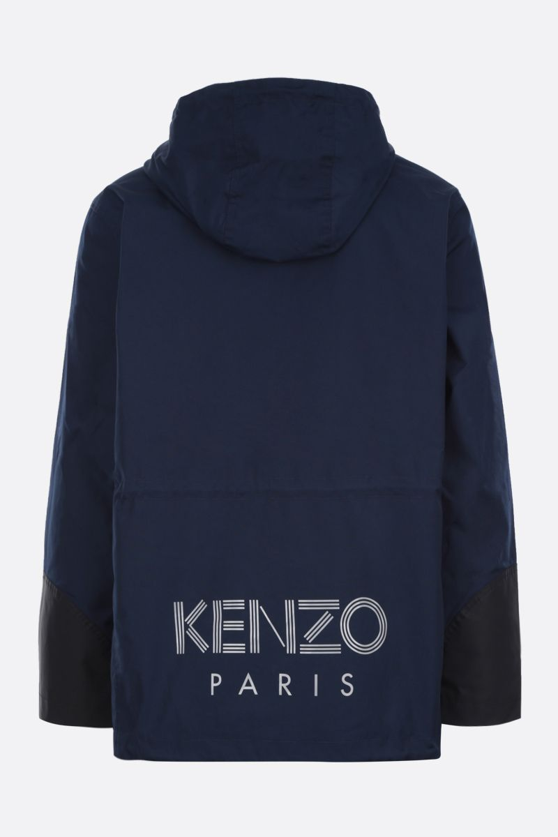 KENZO: Kenzo Paris technical cotton parka Color Blue_2