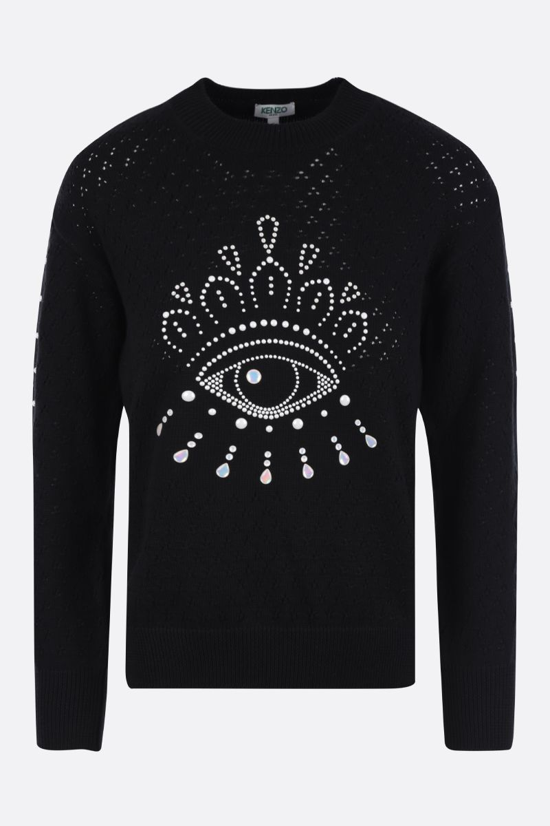 KENZO: Eye cotton pullover Color Black_1