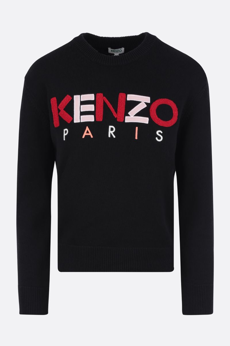 KENZO: Kenzo Paris cotton pullover Color Black_1