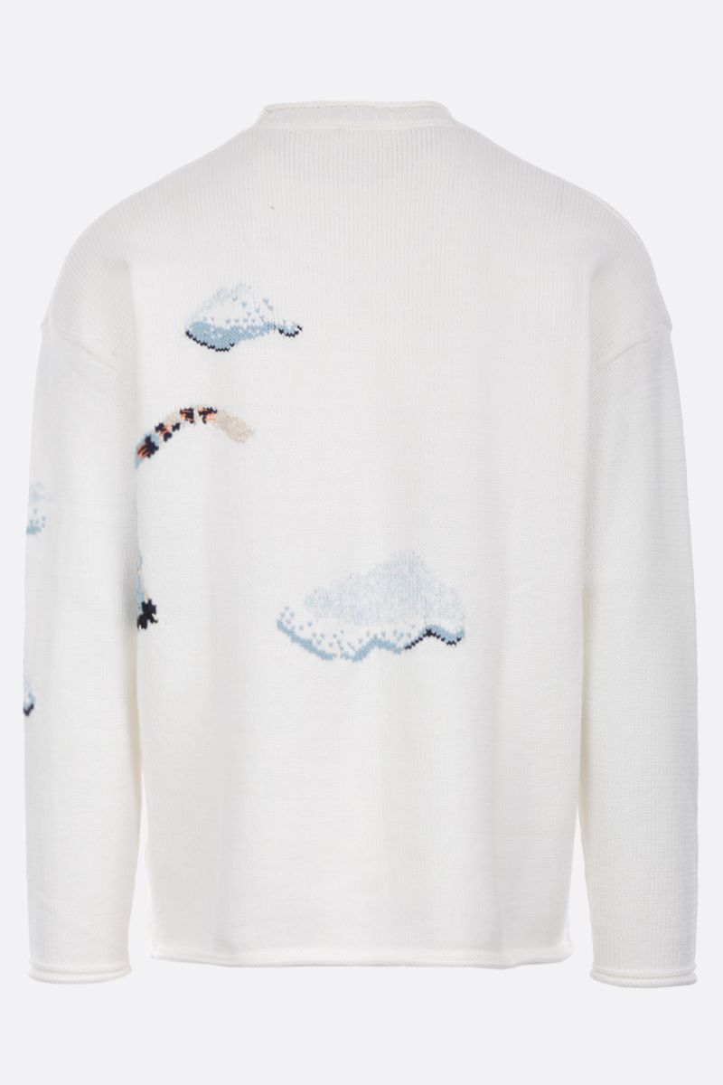 KENZO: Cloud Tigers cotton blend pullover Color Neutral_2