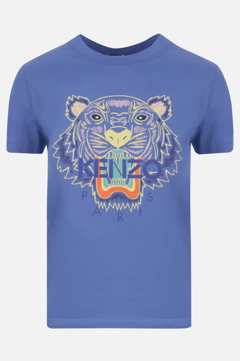 KENZO: Tiger cotton t-shirt Color Purple_1