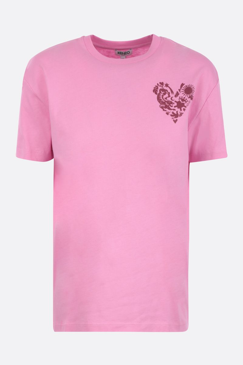 KENZO: Lucky Star cotton oversized t-shirt Color Pink_1