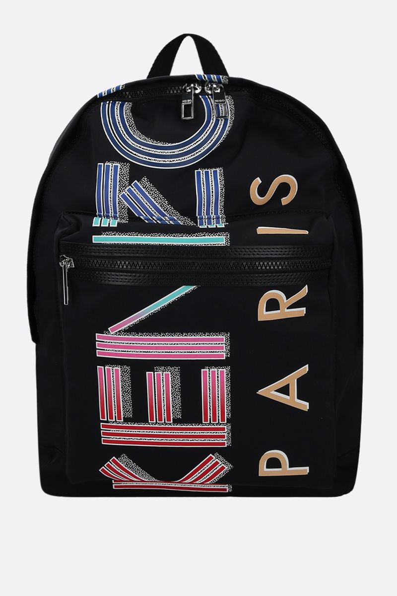 KENZO: Kenzo Logo large nylon backpack Color Black_1