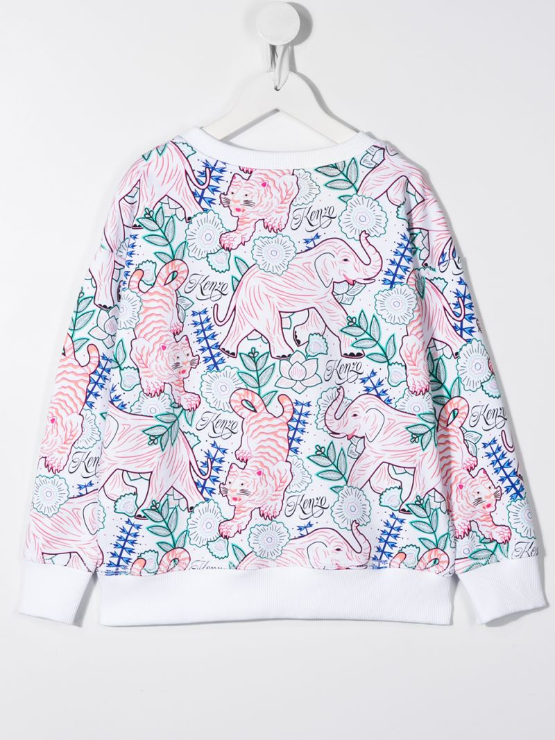 KENZO KIDS: felpa Disco Jungle in cotone Colore Neutro_2