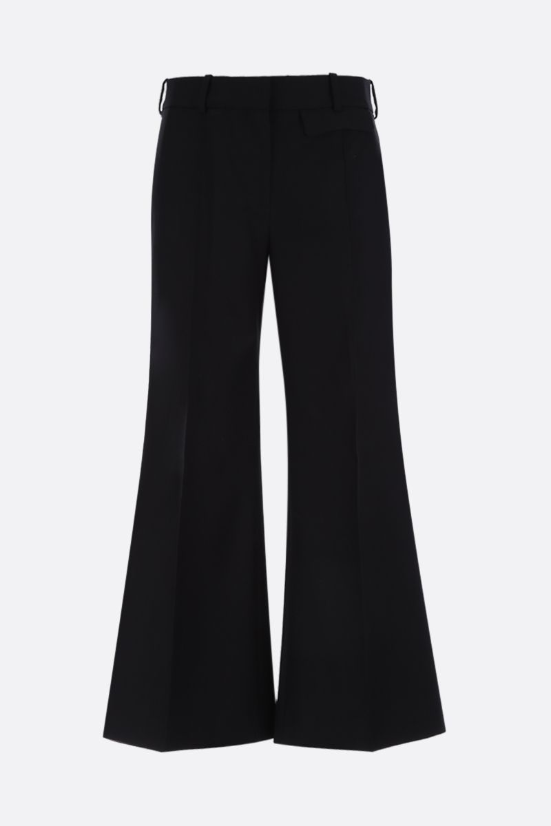 KHAITE: Andreea cropped pants in cotton twill Color Black_1
