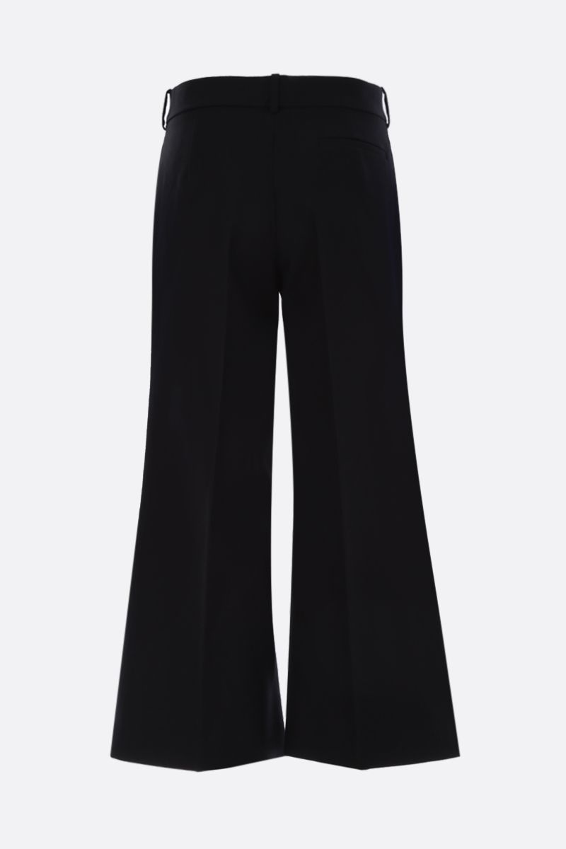 KHAITE: Andreea cropped pants in cotton twill Color Black_2