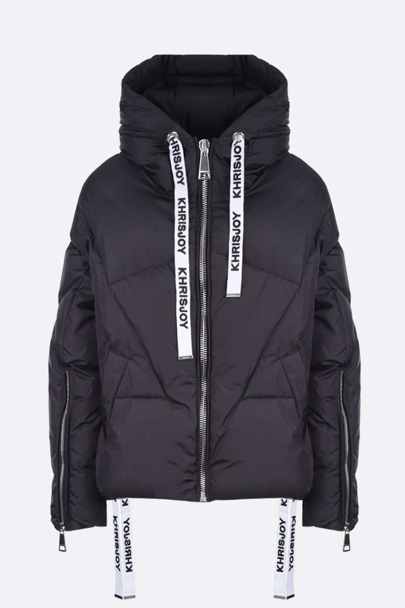 KHRISJOY: Khris puffer jacket in nylon Color Black_1