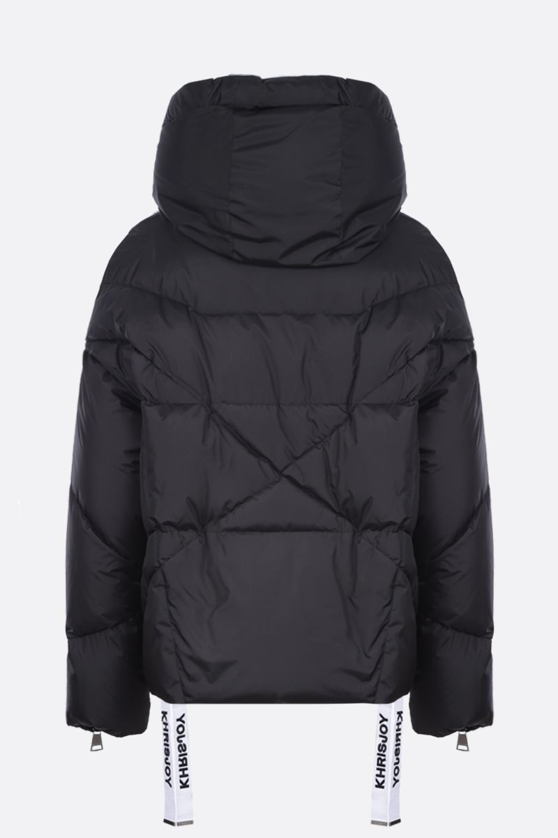 KHRISJOY: Khris puffer jacket in nylon Color Black_2