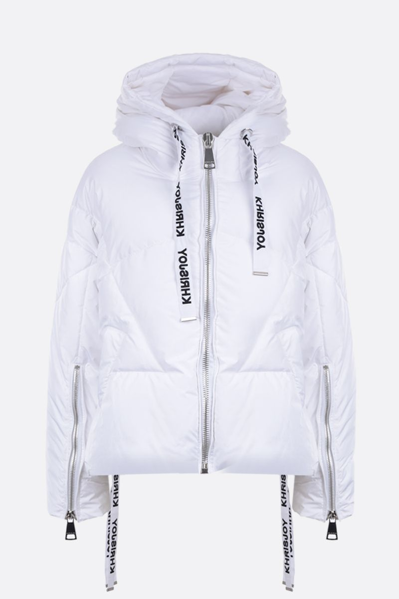 KHRISJOY: Khris puffer jacket in nylon Color White_1