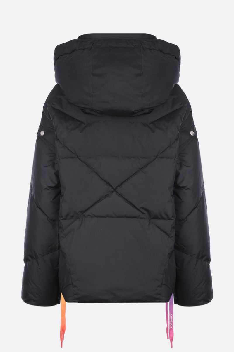 KHRISJOY: Khris puffer jacket in nylon with press-studs detail Color Black_2