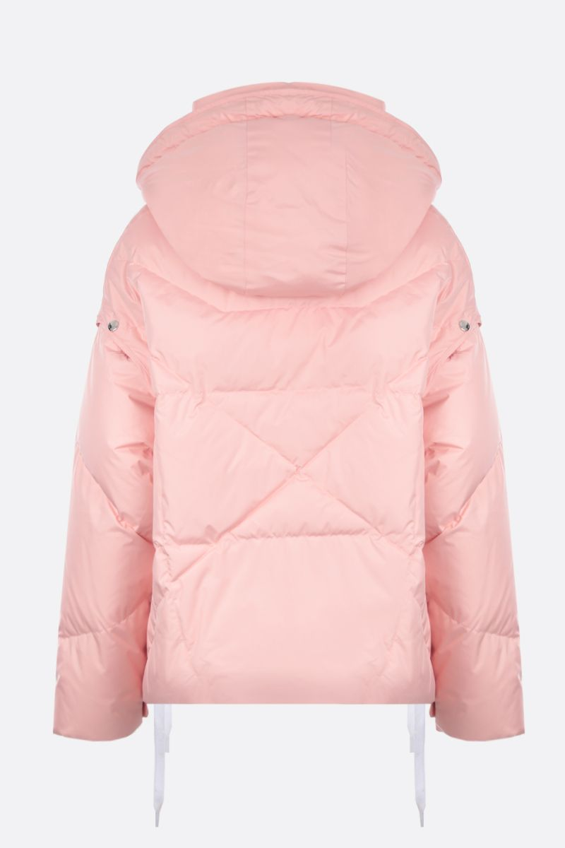 KHRISJOY: Khris puffer jacket in nylon with press-studs detail Color Pink_2