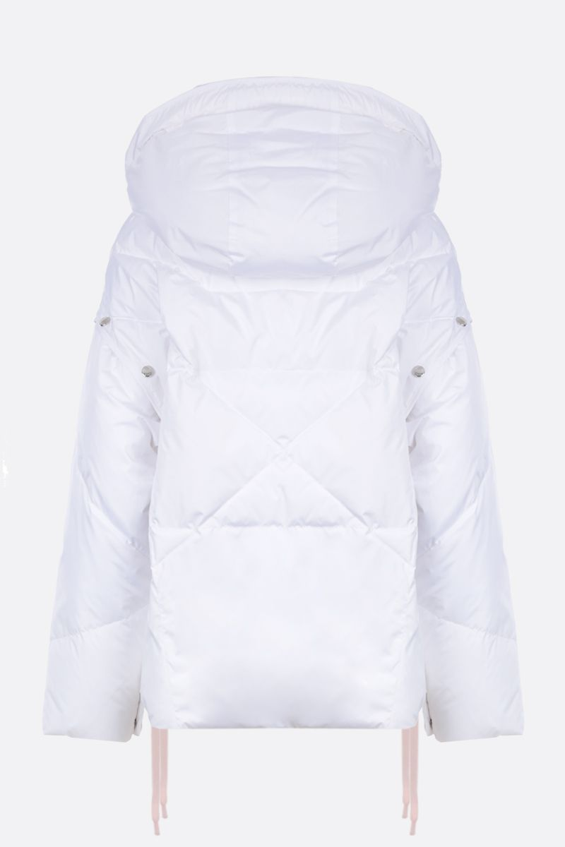 KHRISJOY: Khris puffer jacket in nylon with press-studs detail Color White_2