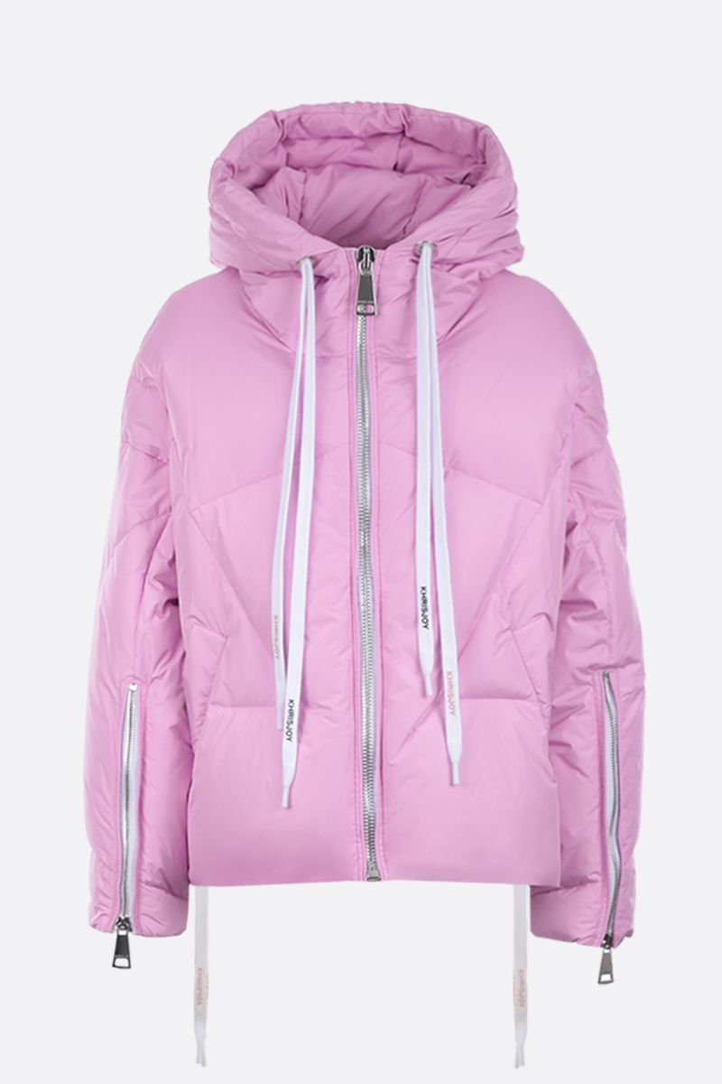 KHRISJOY: Khris SS puffer jacket in nylon Color Pink_1
