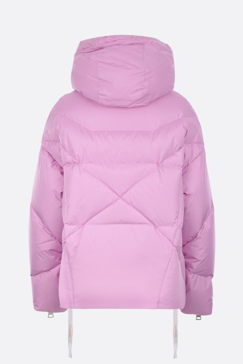 KHRISJOY: Khris SS puffer jacket in nylon Color Pink_2
