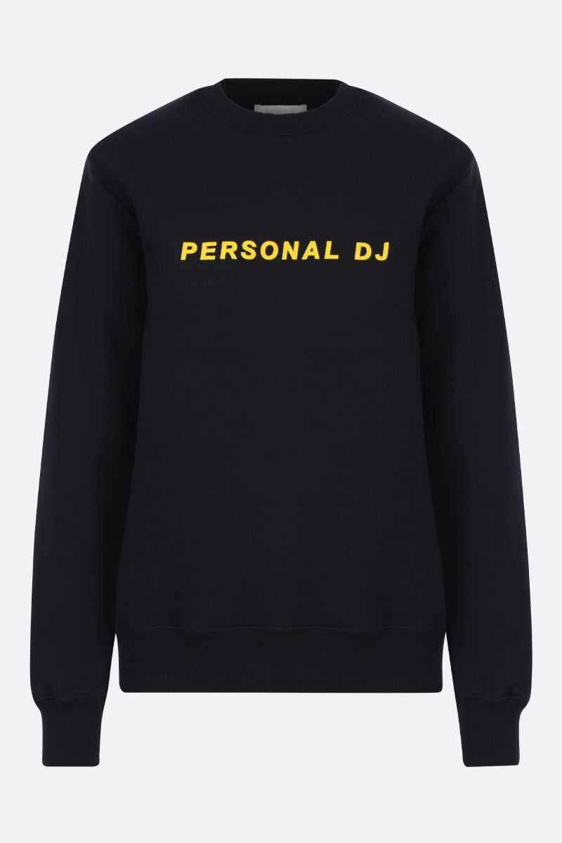 KIRIN: Personal DJ cotton jersey sweatshirt Color Black_1