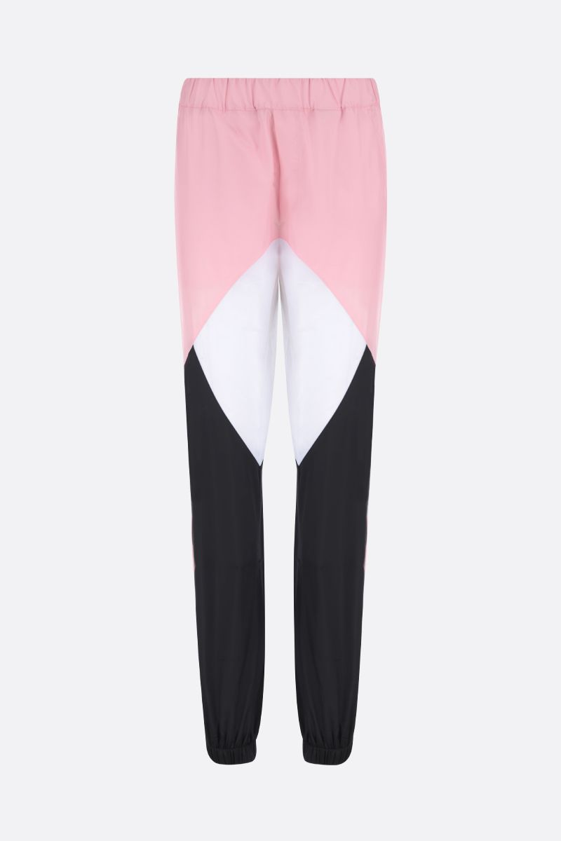 KIRIN: pantalone jogging in nylon color-block Colore Rosa_1