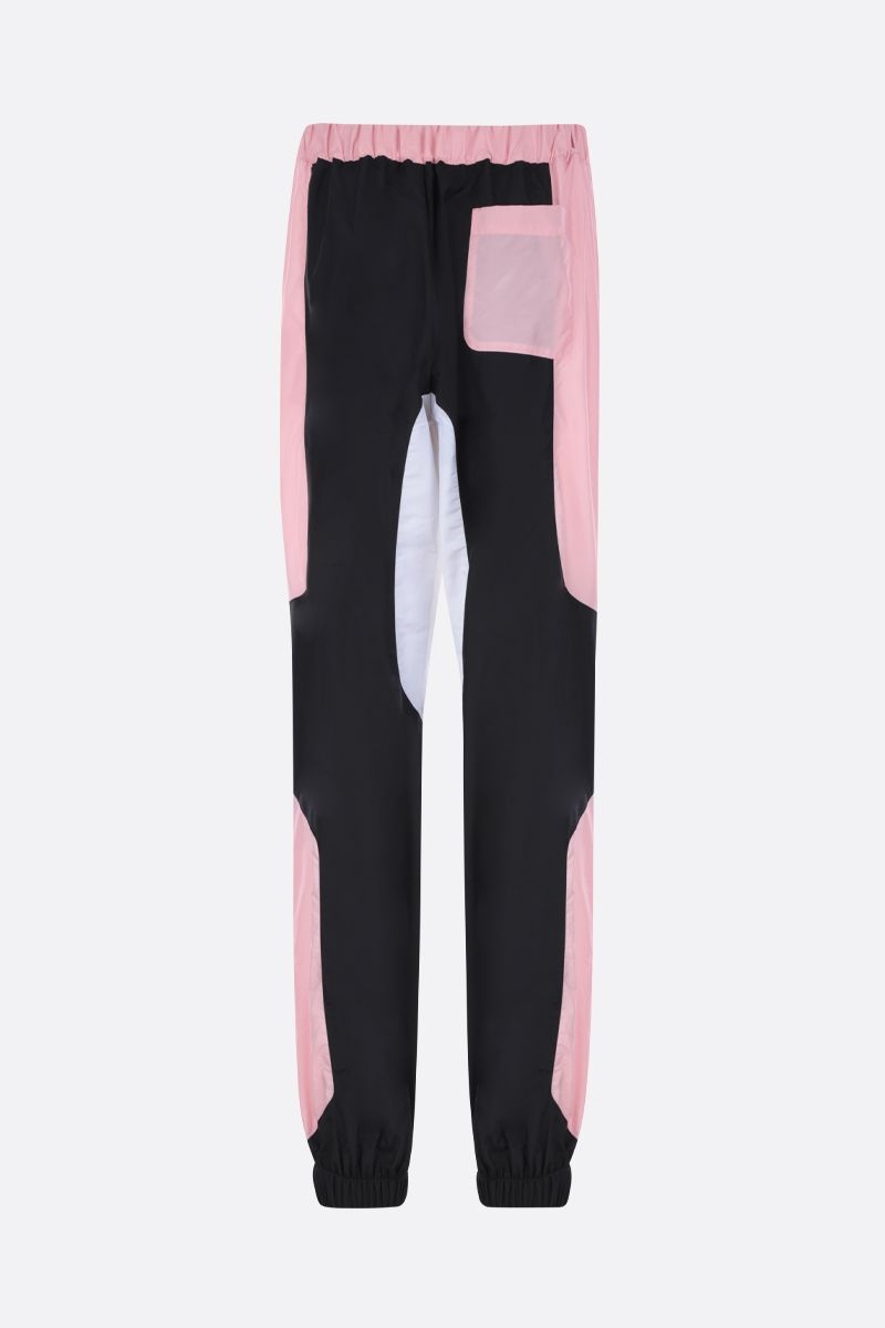 KIRIN: pantalone jogging in nylon color-block Colore Rosa_2