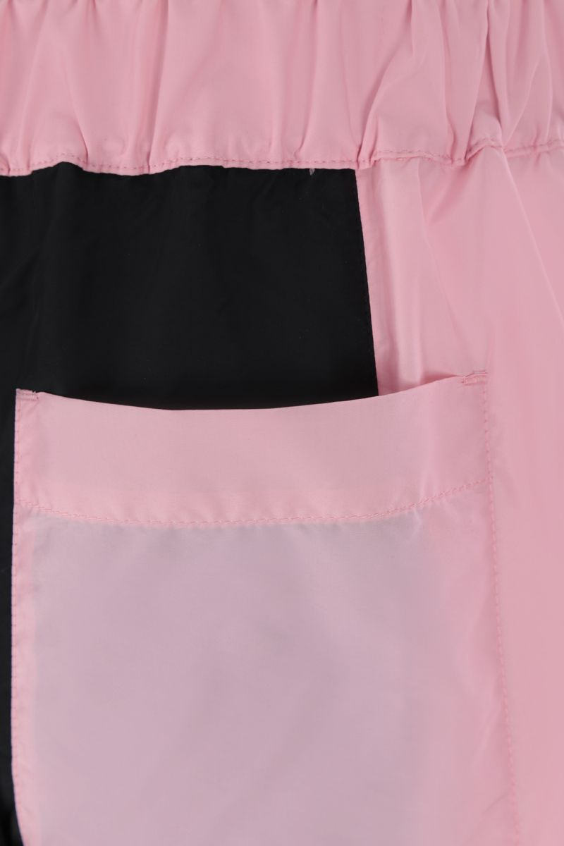 KIRIN: pantalone jogging in nylon color-block Colore Rosa_3