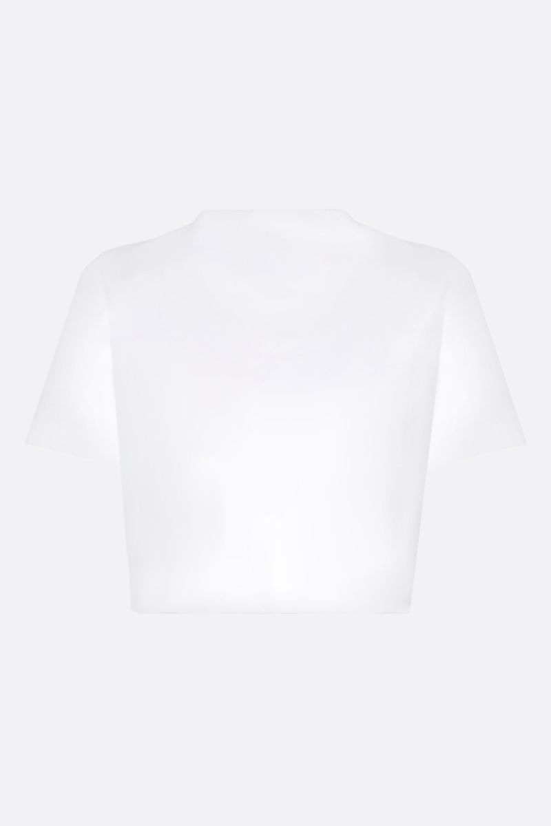 KIRIN: Personal DJ cotton cropped t-shirt Color White_2
