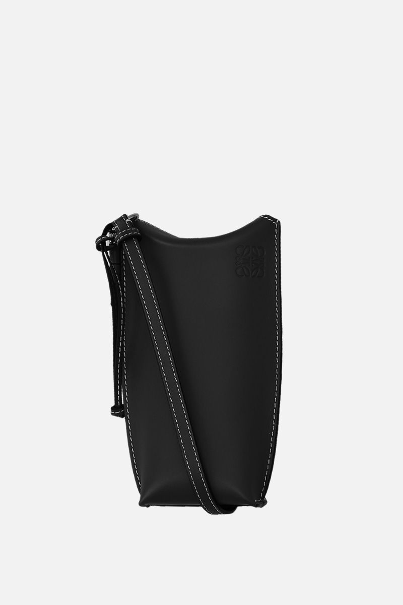 LOEWE: Gate Pocket crossbody bag in smooth leather Color Black_1