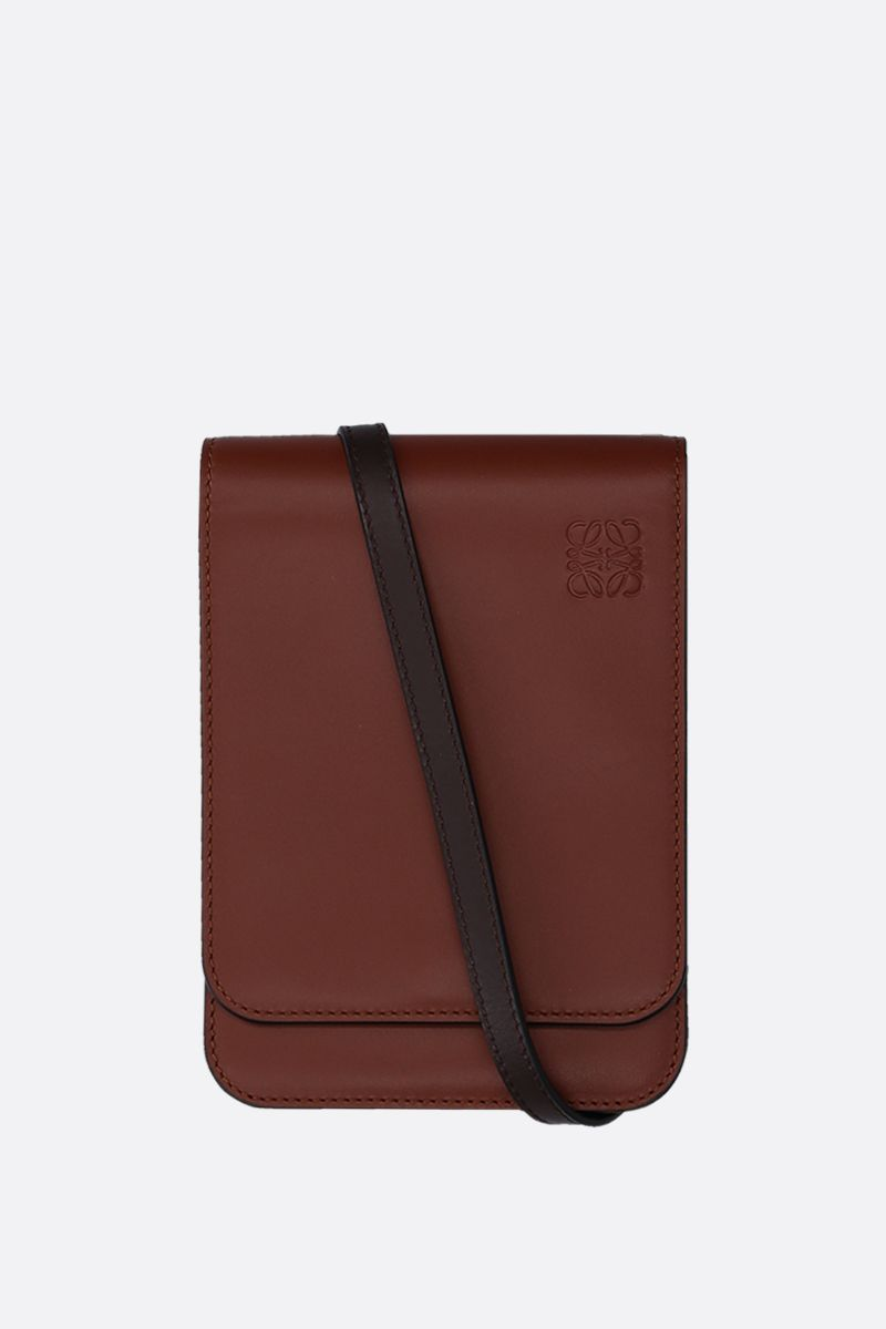 LOEWE: Gusset crossbody bag in smooth leather Color Brown_1