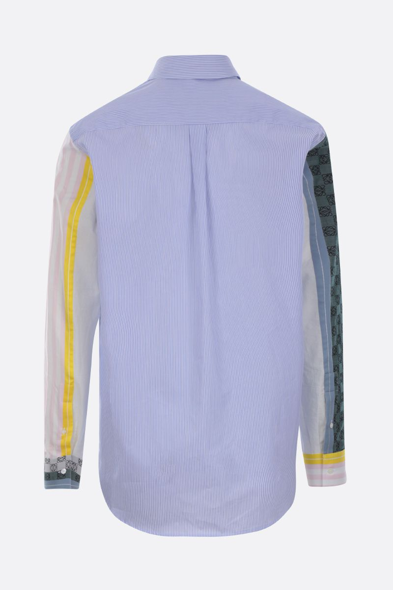 LOEWE: Anagram embroidery striped cotton shirt Color Multicolor_2