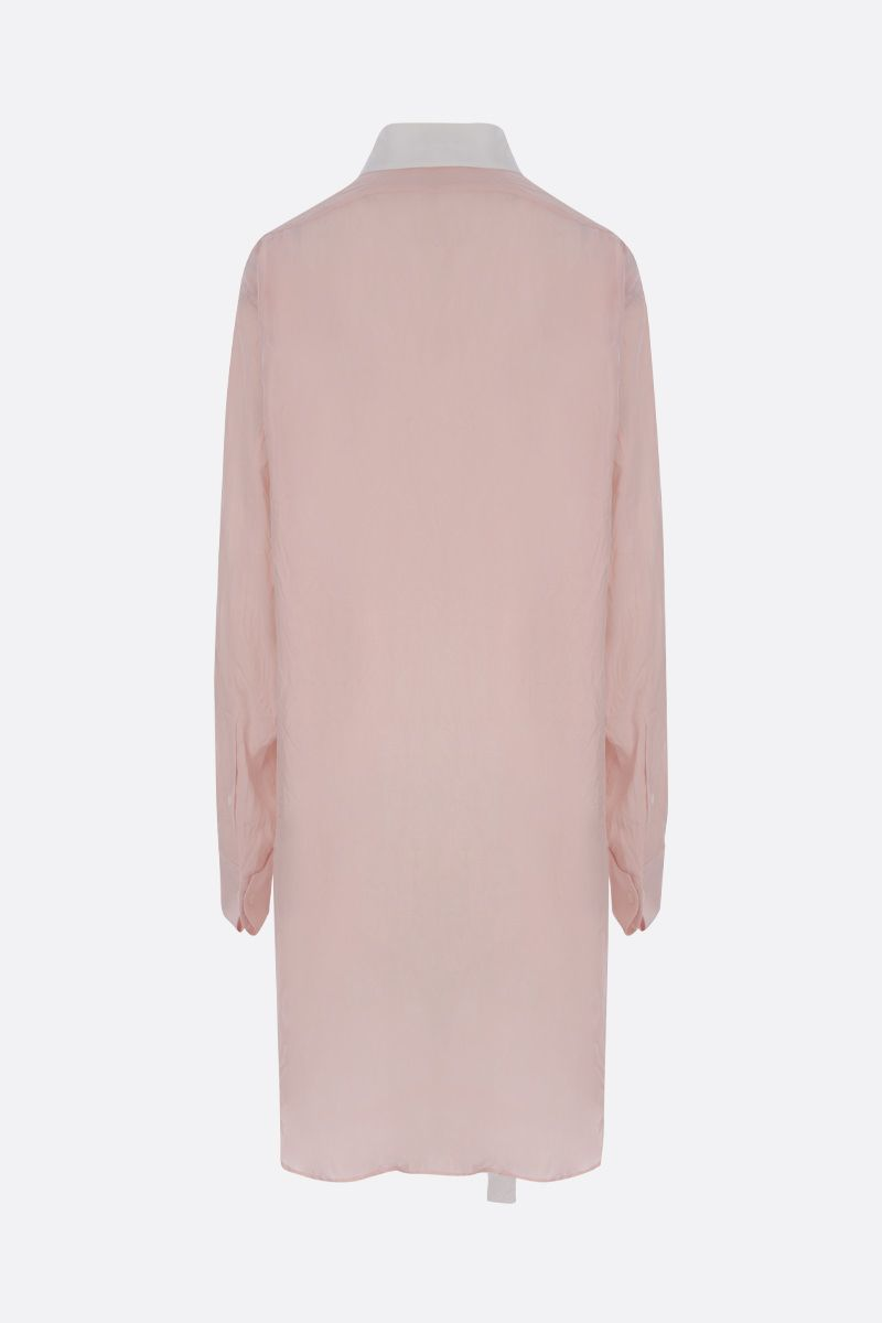 LOEWE: crinkled twill long-fit shirt Color Pink_3