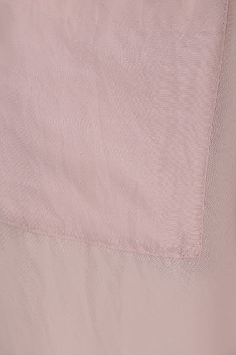 LOEWE: crinkled twill long-fit shirt Color Pink_5