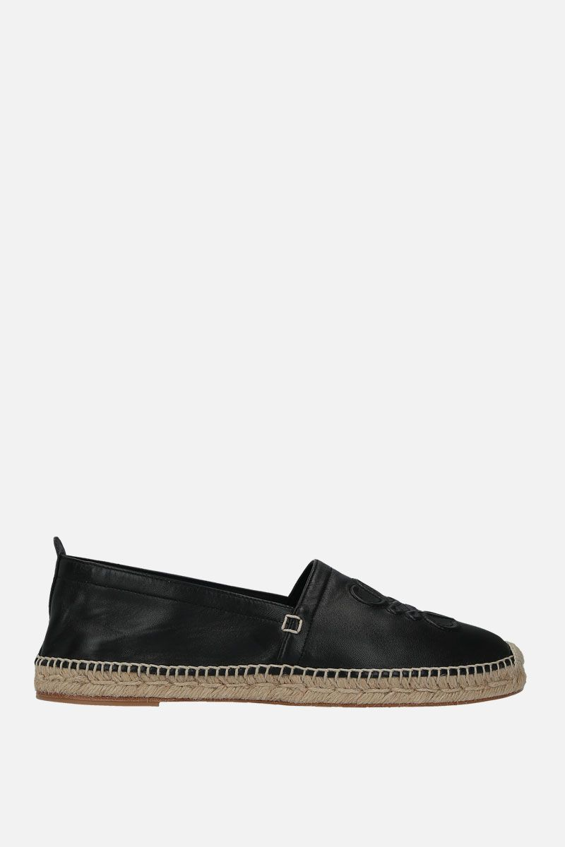 LOEWE: Anagram espadrilles in soft nappa Color Black_1