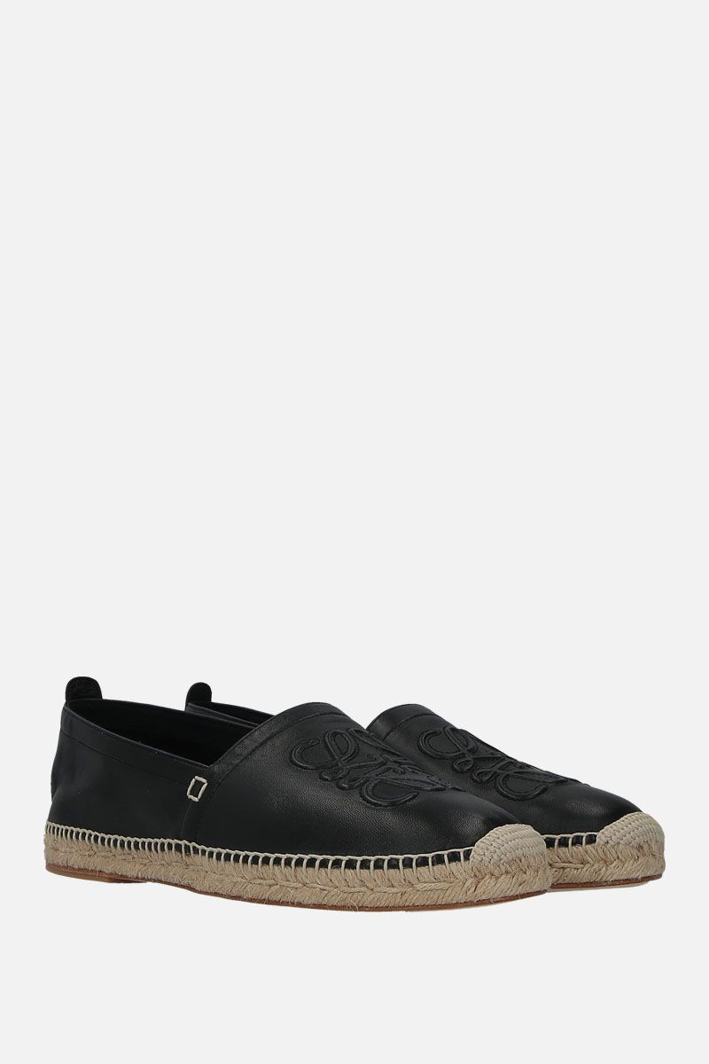 LOEWE: Anagram espadrilles in soft nappa Color Black_2