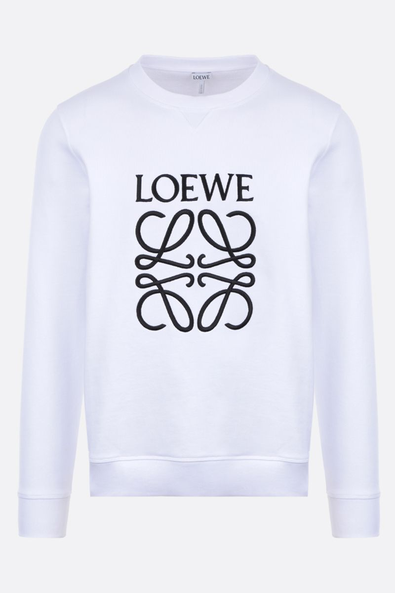 LOEWE: Anagram cotton sweatshirt Color White_1