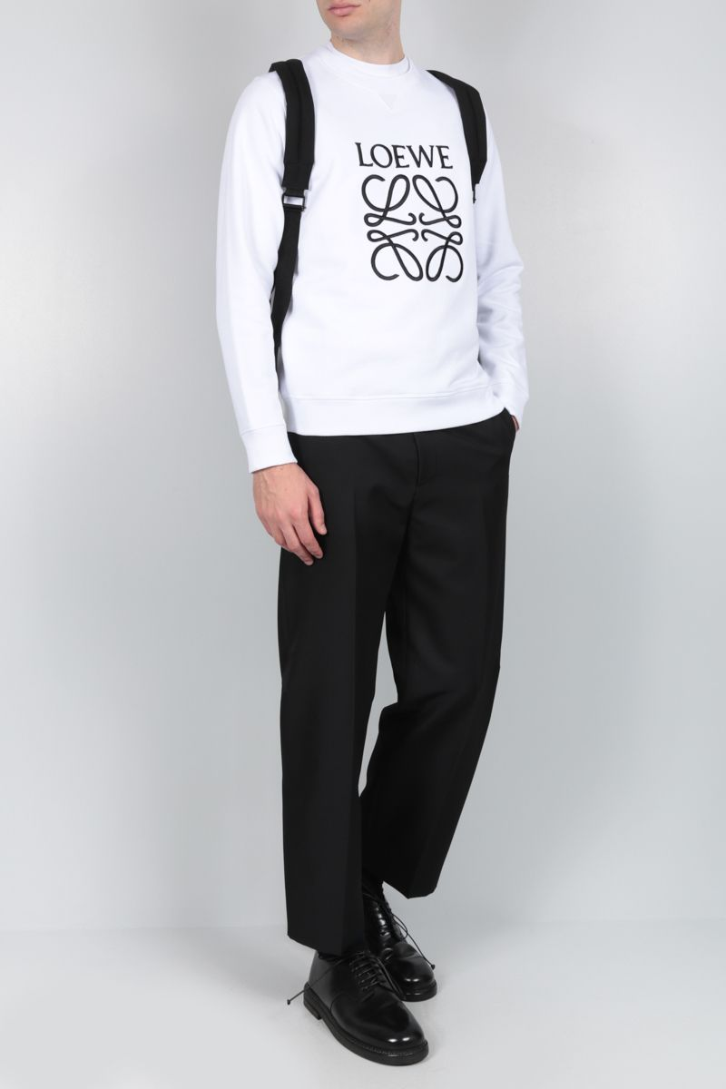 LOEWE: Anagram cotton sweatshirt Color White_2