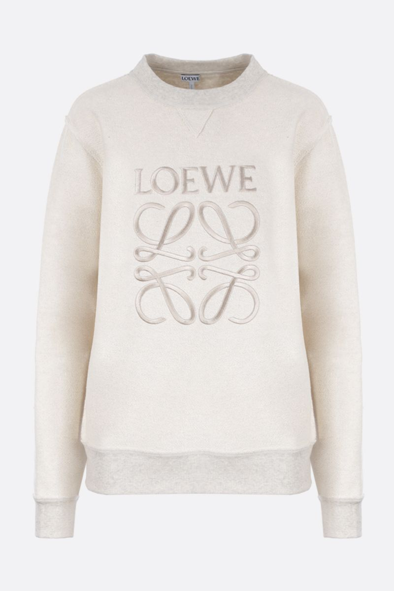 LOEWE: Anagram embroidered cotton sweatshirt Color Multicolor_1