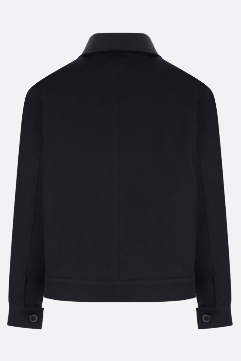 LOEWE: patch pocket-detailed cotton twill jacket Color Blue_3
