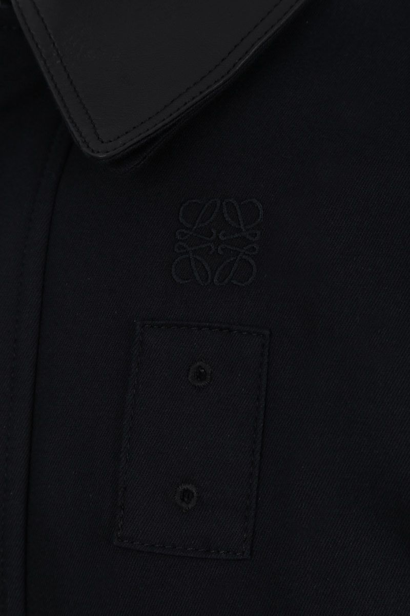 LOEWE: patch pocket-detailed cotton twill jacket Color Blue_4