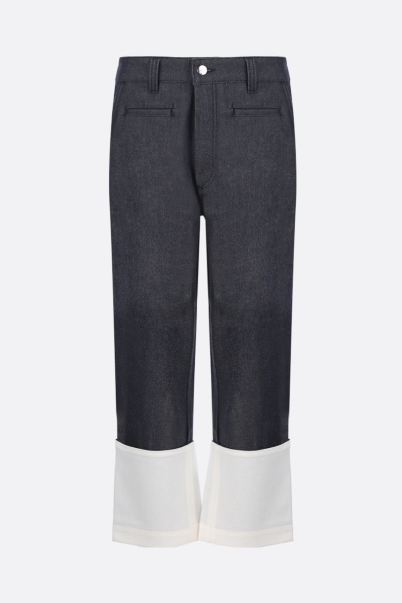 LOEWE: Fisherman jeans with turn-up hem Color Blue_1