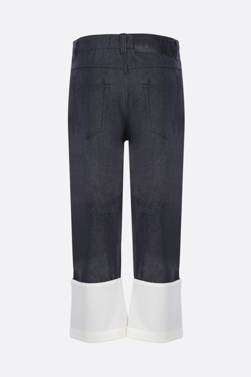 LOEWE: Fisherman jeans with turn-up hem Color Blue_2