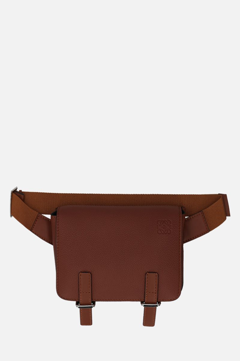 LOEWE: Military bumbag in grainy leather Color Brown_1