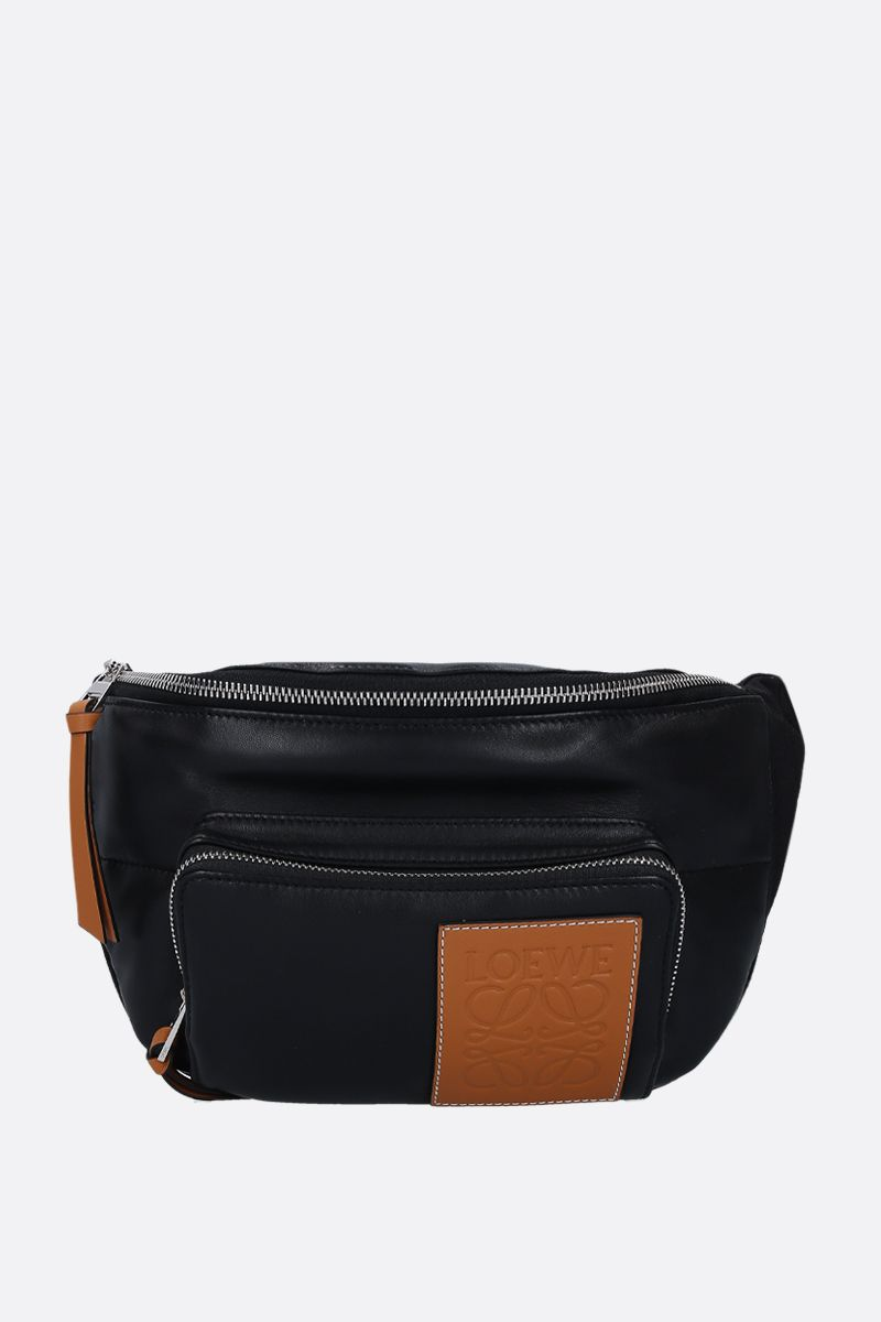 LOEWE: nappa and nylon padded belt bag Color Black_1