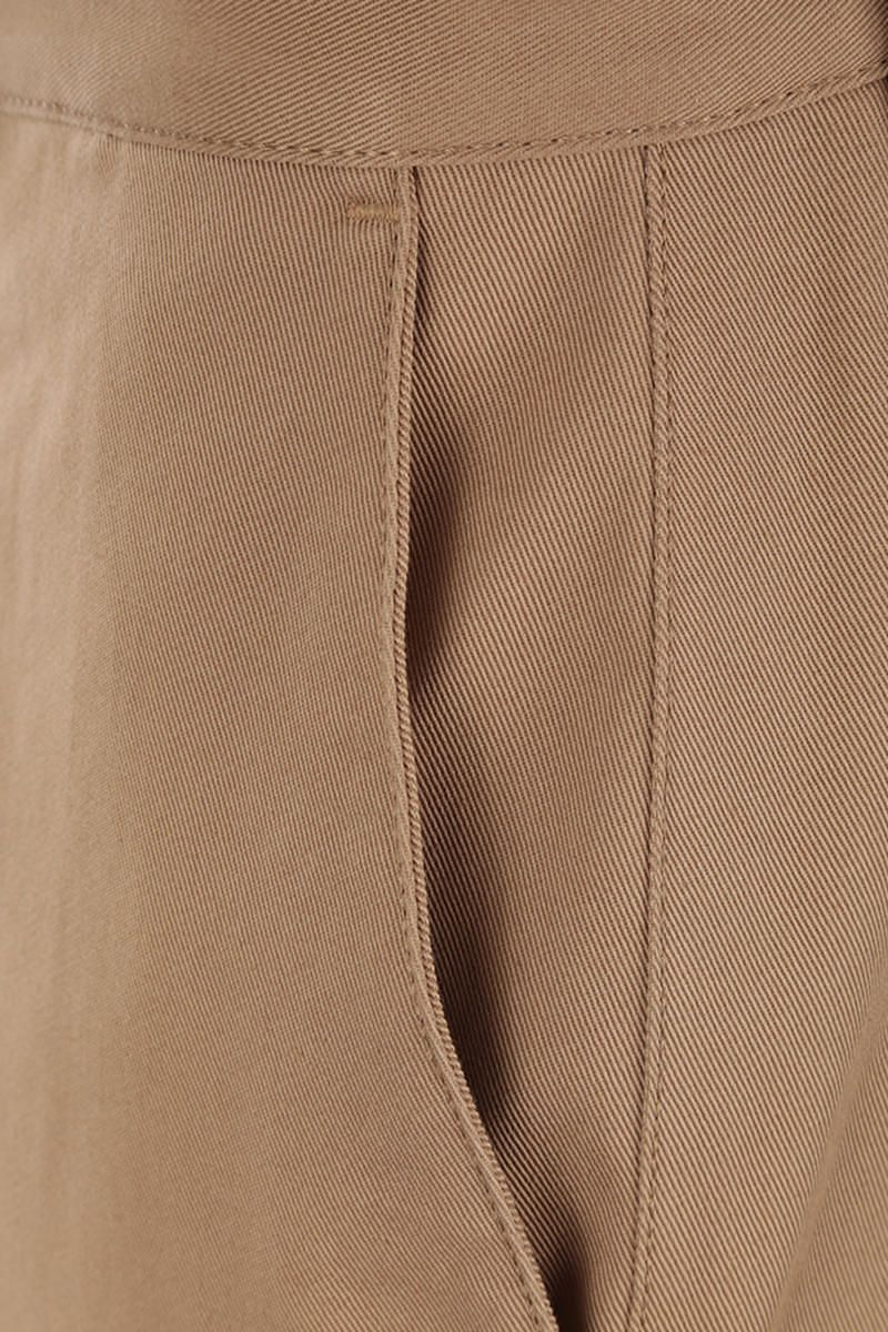 LOEWE: macro turn-up cotton drill chino pants Color Neutral_4