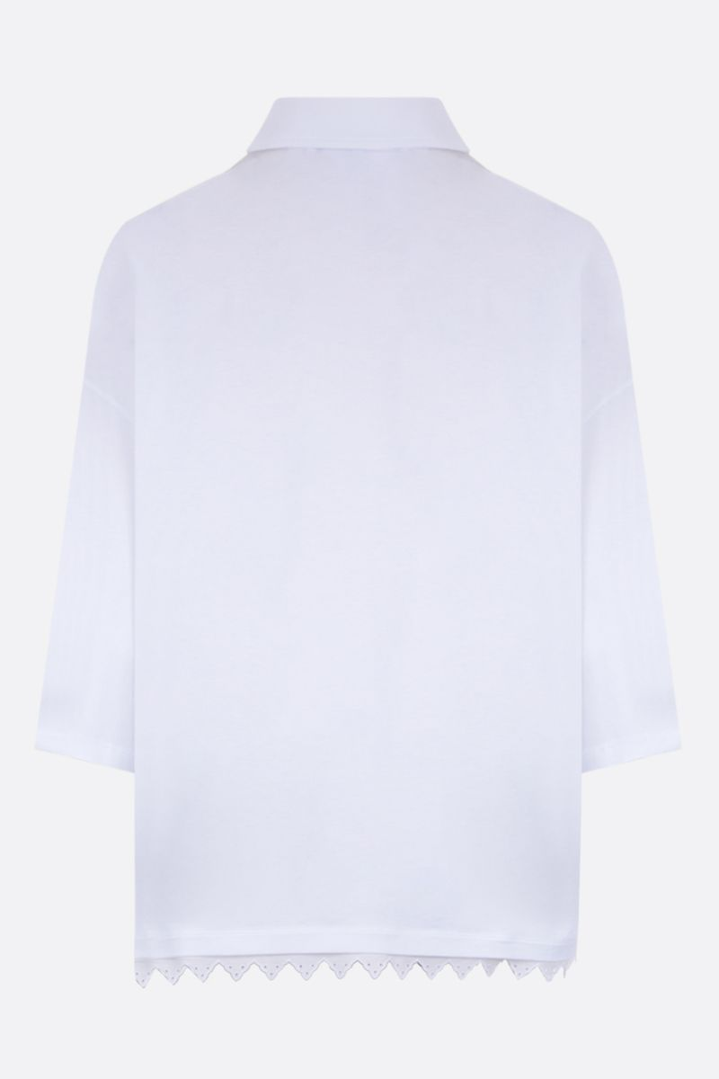 LOEWE: Anagram-detailed cotton jersey polo shirt Color White_2
