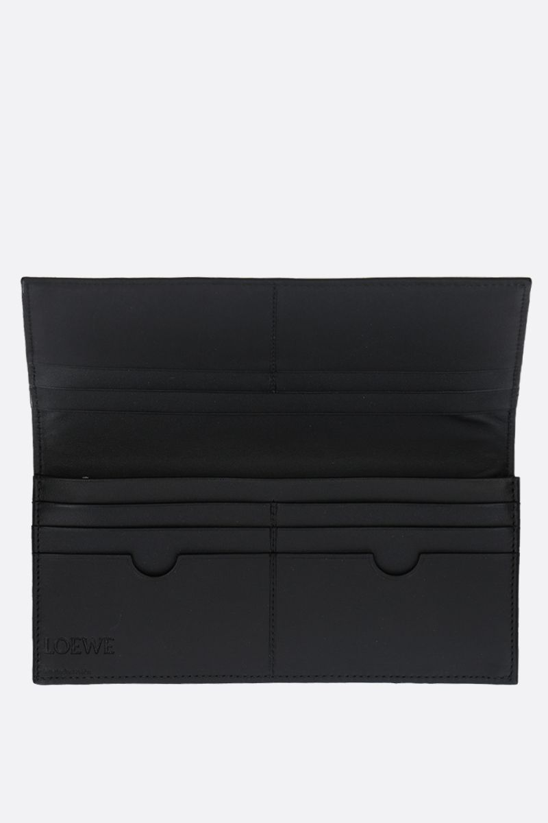 LOEWE: textured leather flap wallet Color Black_2