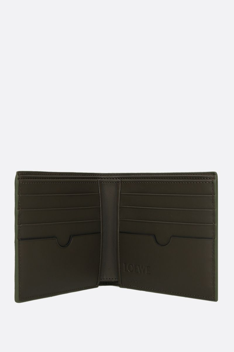LOEWE: Anagram smooth leather billfold wallet Color Brown_2