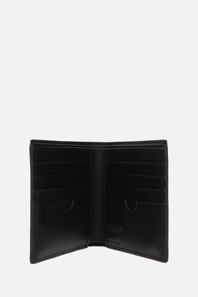 LOEWE: Anagram smooth leather billfold wallet Color Black_2