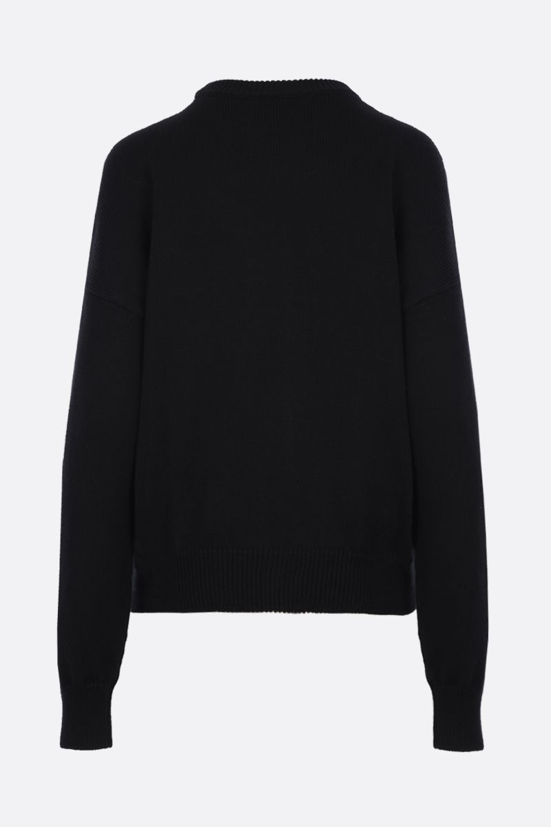 LOEWE: logo embroidered cotton pullover Color Black_2