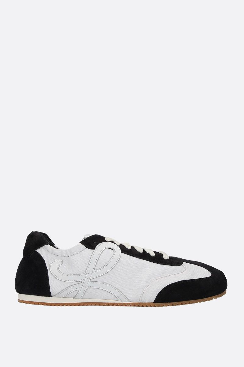 LOEWE: Ballet suede and canvas trainers Color Black_1