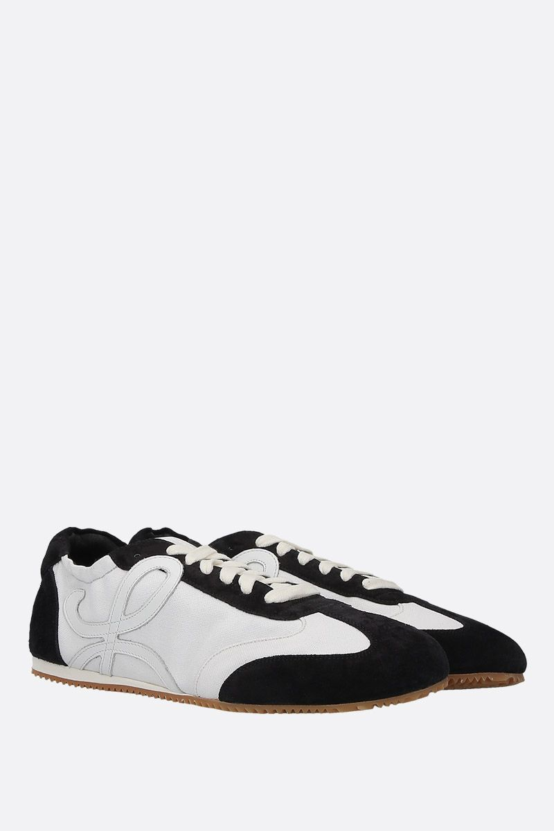 LOEWE: Ballet suede and canvas trainers Color Black_2